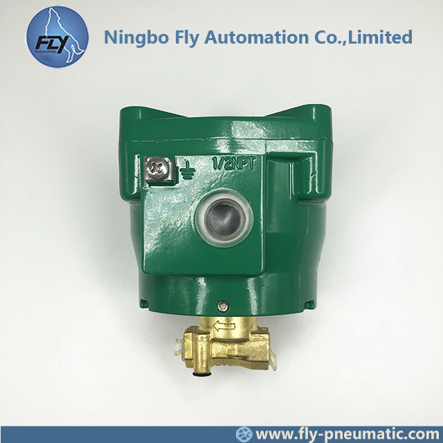 "NFFBB262D232V ASCO 262 Series 1/4"" Brass Body Normally Closed Explosion Proof Solenoid Valve"