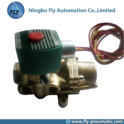 "8344G074 EF8344G074MO ASCO 8344 series 1/2"" Pilot Operated Brass Body Piston/Poppet Solenoid Valves"